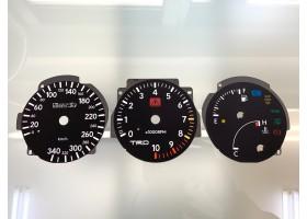 Toyota Supra MK4 Series 1 RHD 10K, 340 km/h Tom's dials