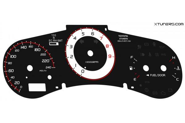 Toyota MR-S, MR2 Spyder, Roadster W30 dials