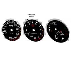 Toyota Supra MK4 preface 180 kmh JDM, 180 MPH to kmh conversion dials