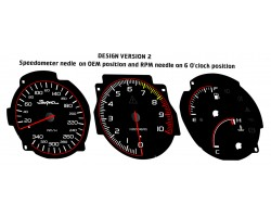 Toyota Supra MK4 preface Xtuners design 2 dials