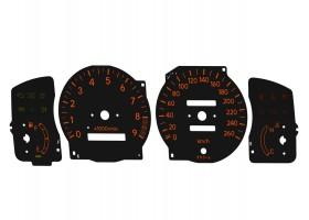 Toyota Corolla AE110 AE111 AE112 260 km/h orange dials