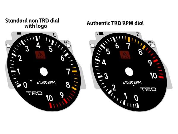 Toyota Supra MK4 Series 1 RHD TRD dials